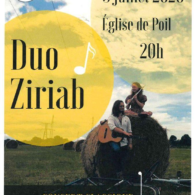 Concert Duo Ziriab à Poil